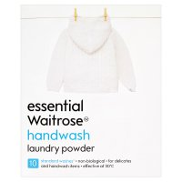 essential Waitrose washing powder handwash & twin tub