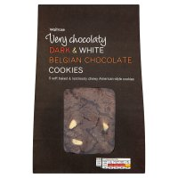Waitrose white & plain chocolate cookies image