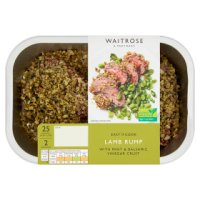 Waitrose Easy To Cook 2 lamb rumps with a mint & balsamic vinegar crust