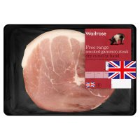 Waitrose 1 British Free Range smoked dry cured bacon gammon steak