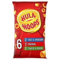 Hula Hoops cheese & onion, salt & vinegar and original