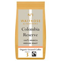 Waitrose organic ground coffee Colombian reserve