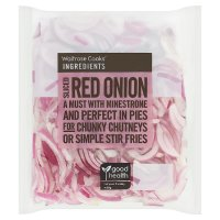 Waitrose Cooks' Ingredients sliced red onion twin pack