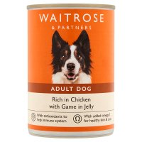 Waitrose chunks in jelly for dogs game & chicken