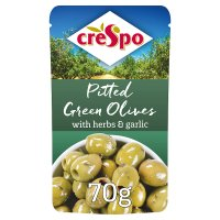Crespo pitted herbs & garlic green olives