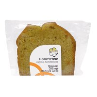 Honeyrose organic orange madeira cake slice