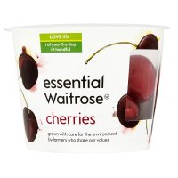 essential Waitrose cherries snack pot