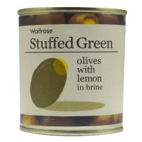 Waitrose, stuffed green olives with lemon in brine