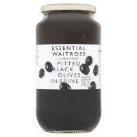 Waitrose, pitted black olives in brine