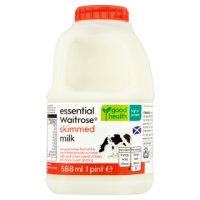 Waitrose skimmed Scottish milk