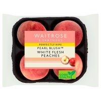 Waitrose perfectly ripe white fleshed peaches