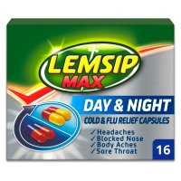 Lemsip Max 16 cold & flu day & night capsules