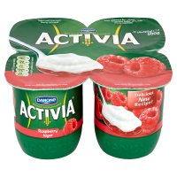 Activia fruit layer raspberry yogurts