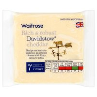 Waitrose Davidstow Cornish vintage Cheddar cheese, strength 7