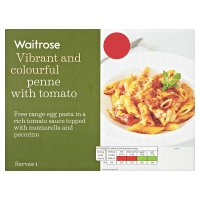 Waitrose penne with tomato and mozzarella