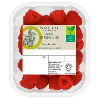 Waitrose Organic raspberries
