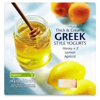 Waitrose thick & creamy Greek style yogurts