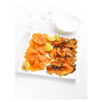 Waitrose smoked salmon and gravadlax platter