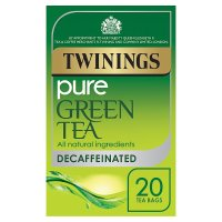 Twinings decaffeinated pure green tea 20 tea bags