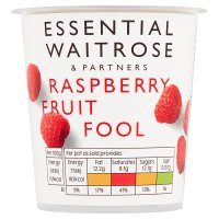 essential Waitrose raspberry fruit fool