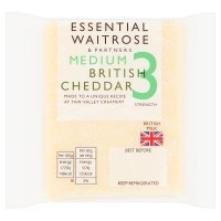 Essential Waitrose cheddar (medium)