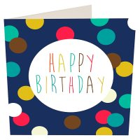 Image of Dots Happy Birthday Card