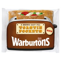Warburtons Brown Easy Fill Toastie Pockets