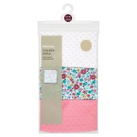 Waitrose 3PK FASHION MUSLINS (GIRLS) - AL