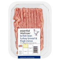 essential Waitrose turkey breast & thigh mince