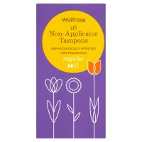 Waitrose Non-Applicator Tampons Regular