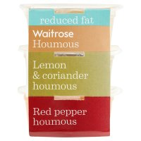 Waitrose reduced fat flavoured houmous snack pots
