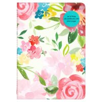 Waitrose A6 3 Floral Notebooks