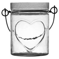 Waitrose Embossed Heart Jar