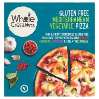 Whole Creations pizza Mediterranean vegetable glutenfree