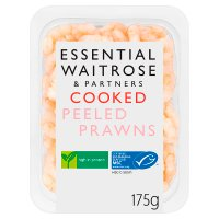essential Waitrose cooked peeled prawns