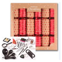 Waitrose Christmas Red/Brown Crackers
