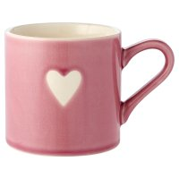 Waitrose Embossed Heart Icon Mug Pink