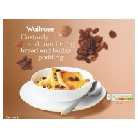 Waitrose bread & butter pudding