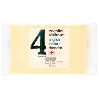 essential Waitrose English mature Cheddar cheese, strength 4