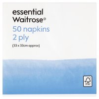 essential Waitrose napkins 33x33cm