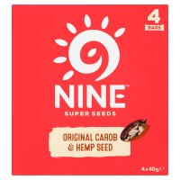 9nine Original Carob & Hemp Seed Bars