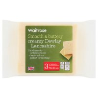 Waitrose Dewlay creamy medium Lancashire cheese, strength 3