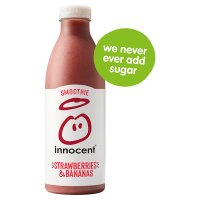 Innocent smoothie strawberry and banana 750ml
