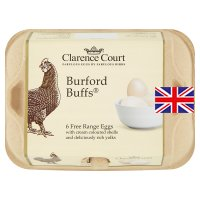 Clarence Court Burford Buffs mixed weight British free range eggs