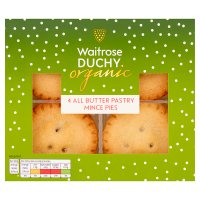 Duchy Organic 4 All Butter Pastry Mince Pies
