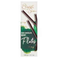 Elizabeth Shaw dark chocolate mint flutes