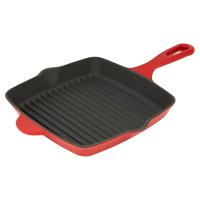 Waitrose Cooking red cast iron griddle
