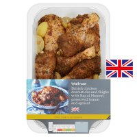 Waitrose British chicken drumsticks with ras el hanout, lemon & apricot