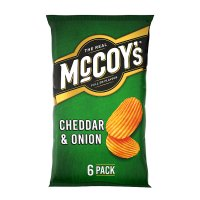 McCoy's Ridge Cut Crisp Cheddar & Onion