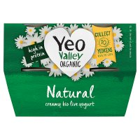 Yeo Valley 4 organic natural yogurts